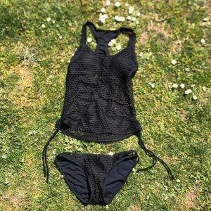Black 2 piece suit size S-M